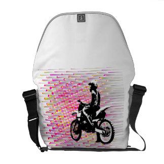 Pink Ripple Messenger Bag