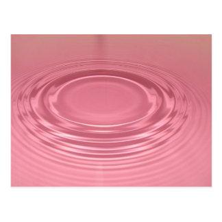 Pink ripple postcard