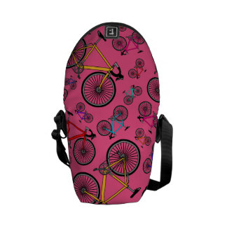 Pink road bikes commuter bags