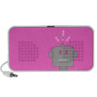 pink robot mini speakers