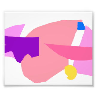 Pink Rocket Smile Light Speed 1000 Years Photographic Print