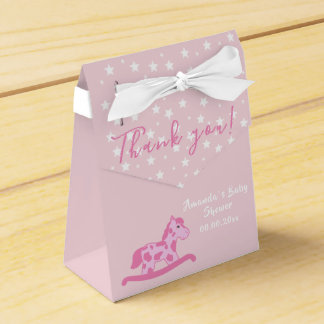 Pink Rocking Horse Baby shower Party favor box