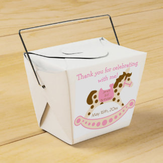 Pink Rocking Horse Birthday Favour Box