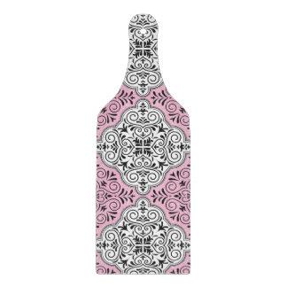 Pink Rococo Pattern Flourish Cutting Board