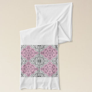 Pink Rococo Pattern Flourish Scarf