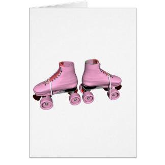 Pink Roller Skates Card