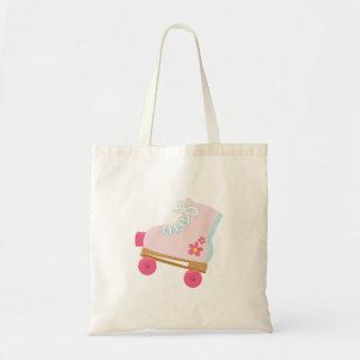 Pink Rollerskate Tote Bag