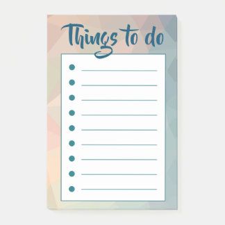 Pink romantic modern to do list post-it notes