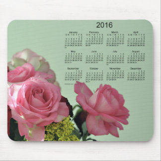 Pink Rose 2016 Calendar by Janz Mouse Pad