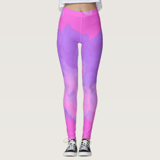 Pink Rose Abstract Leggings