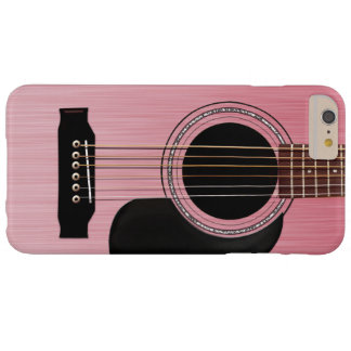 Pink Rose Acoustic Guitar Barely There iPhone 6 Plus Case