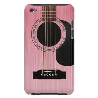 Pink Rose Acoustic Guitar Barely There iPod Cases