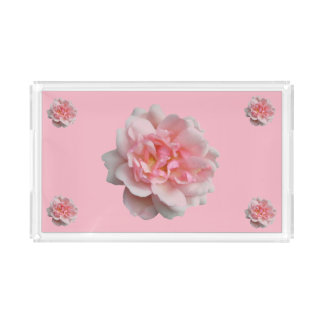 Pink Rose Acrylic Tray