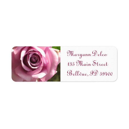 Pink Rose Address Label