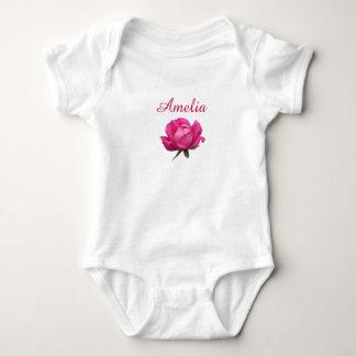 Pink rose baby bodysuit
