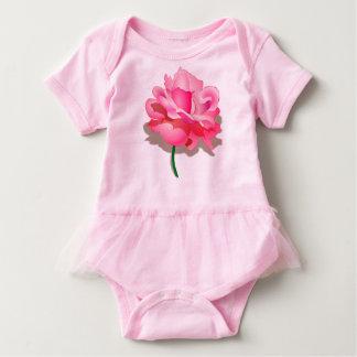 Pink Rose Baby Tutu Bodysuit