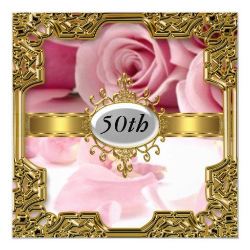 Pink Rose Birthday Party Glamour Hot Invitation  Zazzle