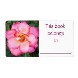 Pink Rose book label