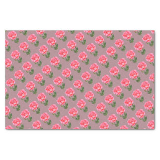 Pink Rose Botanical Illustration Tissue Paper
