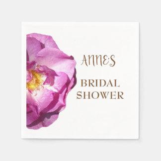 Pink Rose Bridal Shower Paper Napkins Disposable Napkin