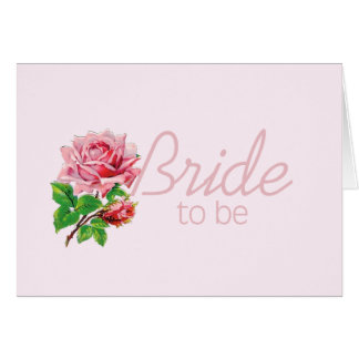 Pink Rose Bride to Be tshirts and Gifts Card