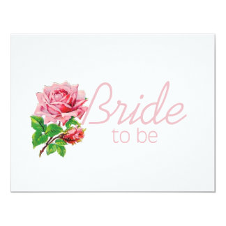 Pink Rose Bride to Be tshirts and Gifts Invites