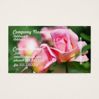 Pink Rose Bud Business Cards