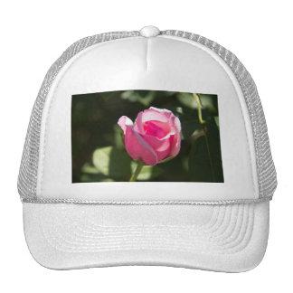 Pink Rose Bud Trucker Hat