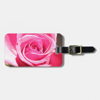 Pink Rose Bud Flower Floral Photo Luggage Tag