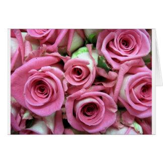 Pink Rose Buds Card