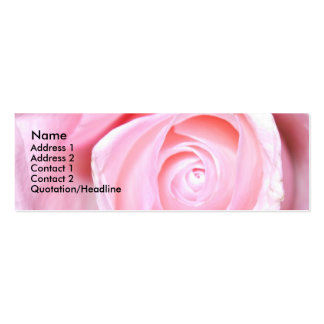 Pink Rose, Pack Of Skinny Business Cards
