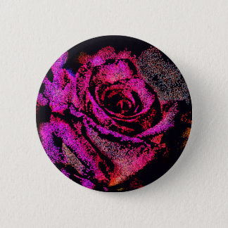 Pink Rose by Camille K 6 Cm Round Badge