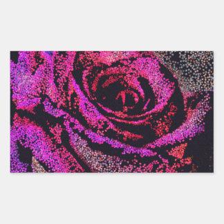 Pink Rose by Camille K Rectangular Sticker