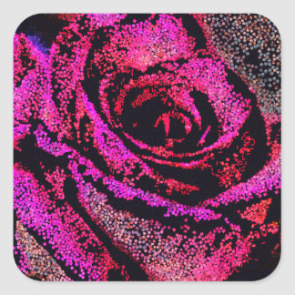 Pink Rose by Camille K Square Sticker