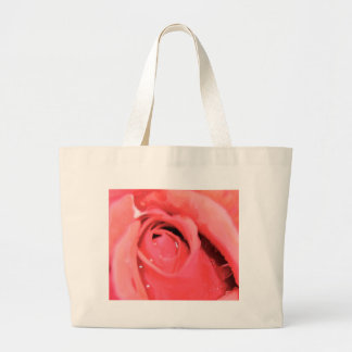 Pink Rose Canvas Bags