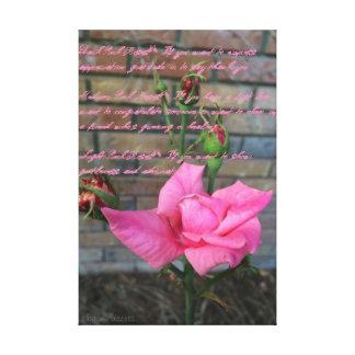 Pink Rose Canvas Canvas Print