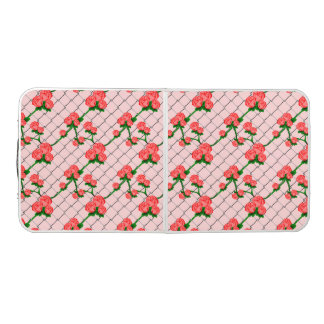 Pink Rose Climbing Chain Link Fence Seamless Patte Pong Table