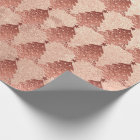 Pink Rose Copper Gold Blush Christmas Tree Wrapping Paper