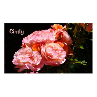 Pink Rose custom Business Cards colorful