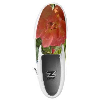 Pink Rose Custom Zipz Slip On Shoes Printed Shoes