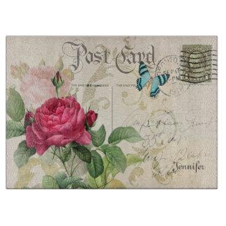 Pink Rose Customizable Cutting Board
