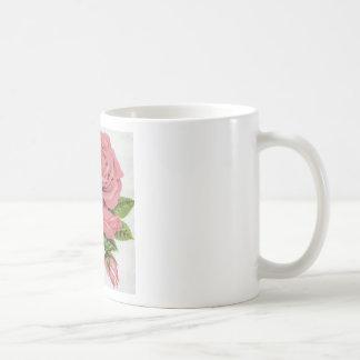 Pink Rose design Coffee Mugs