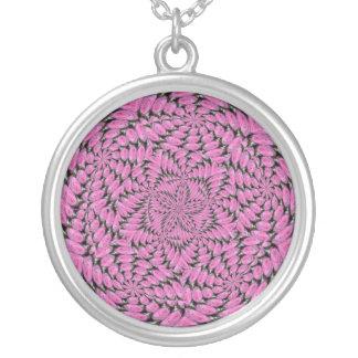 Pink Rose Design Necklace