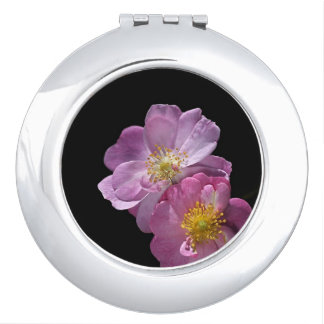 Pink Rose Double Compact Mirror