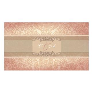 Pink rose elegant  Wedding place card Business Cards