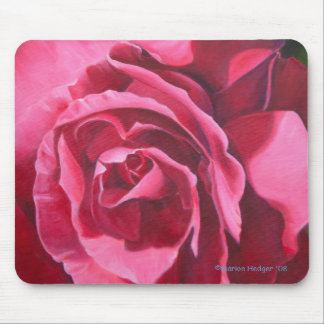Pink Rose Floral Mouse Mat