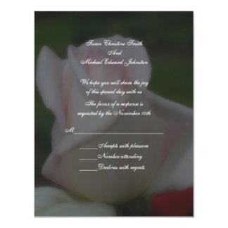 Pink Rose Floral Wedding Response RSVP Invite