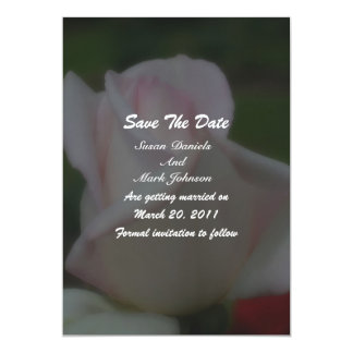 """Pink Rose Floral Wedding Save The Date 5"""" X 7"""" Invitation Card"""