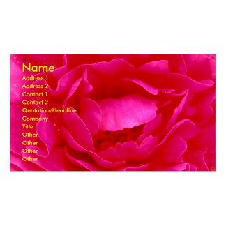 Pink Rose Florist Business Card - Customizable Business Card Templates