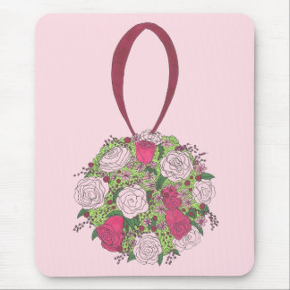 Pink Rose Flower Bridal Bouquet Wedding Shower Mouse Pad